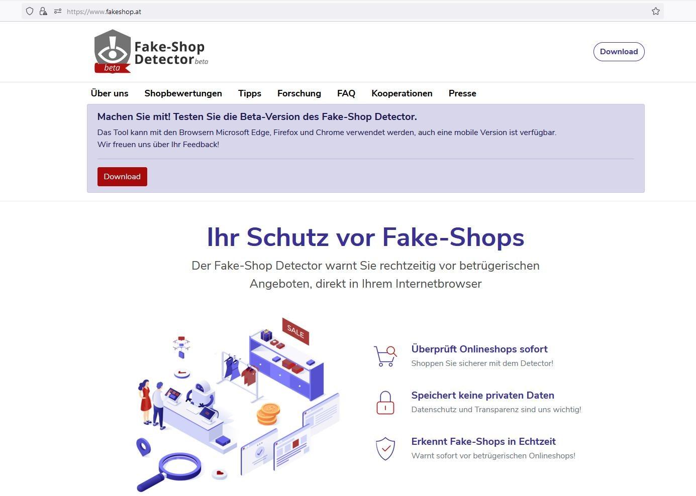 Fake-Shop Detector entlarvt Online-Betrüger