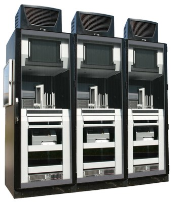 CD/DVD/Blu-Ray Robot cluster